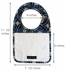 The Bib - dimensions