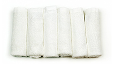 Organic Bamboo Washcloth - rolled in line