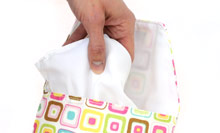 The Diaper Pouch - outer liner pulled